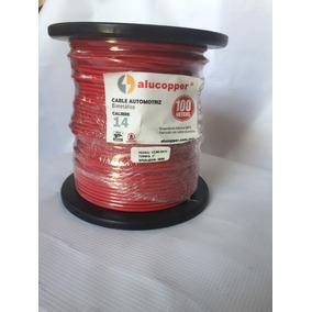 Cable Calibre 14 Automotriz Alucobre Rojo Ala-14
