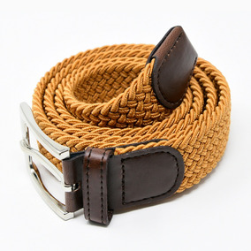 Cinturón Elastico Trenzado Hombre Corda Casual Mostaza 18