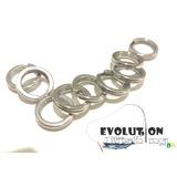 Split Ring De Aço Inox 30 Pcs, 14mm, 120 Kg, 264 Lbs