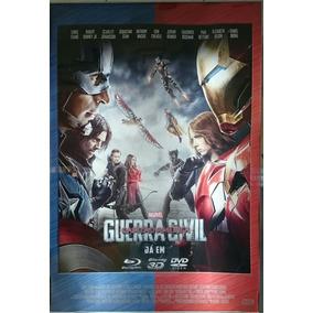 Pôster Cartaz Capitão América - Guerra Civil 93x63 Cm