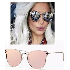 Óculos Feminino Espelhado Da Moda Gato Gatinho Tendência Top 8b33e7bd4e