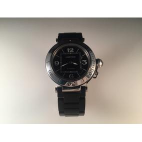 Reloj Cartier Pasha De Acero Con Caucho ,40 Mm Automático.