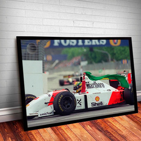 Quadro Ayrton Senna Moldura E Vidro - 45x35cm #9