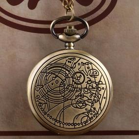 aced8c5a927 Relógio De Bolso Modelo Retro (antigo) Bronze Com Corrente