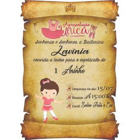 Convite Tema Bailarina Ar Livre Malabares E Festas No Mercado