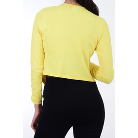 Saco Corto Color Amarillo Azul Basics Collection