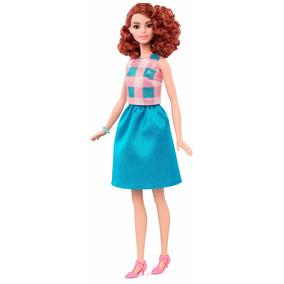 Barbie Fashionista Ruiva Cabelos Ondulado Lançamento Doll 29 9331ffd8248