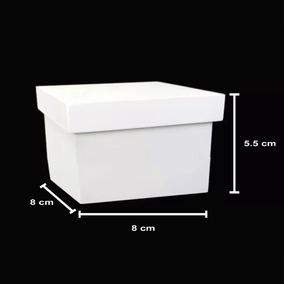 Caixa Mdf Branca Lembrancinha 8x8x5cm - 30un Frete Grátis