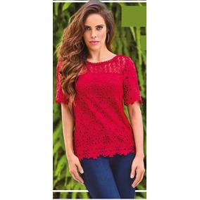 deaffb87 Blusa Roja Floreado De Cklass - Blusas de Mujer en Mercado Libre México