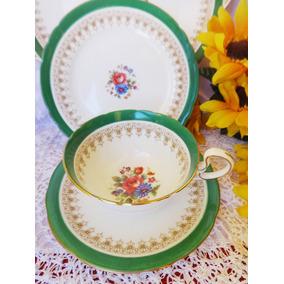Trio De Te Ingles, Antiguo De Porcelana Aynsley(taza+platos)