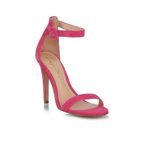 Sandalia Luiza Barcelos Salto Alto Rosa Pink 10470129-25