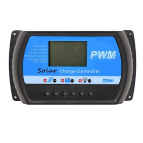 Controlador De Carga Solar Pwm 40a 12v/24v Dual Usb Lcd