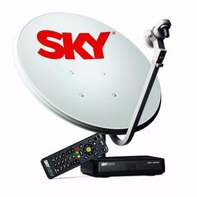 Sky Pré-pago Kit Completo 1 Antena 2 Receptores Digital Hd