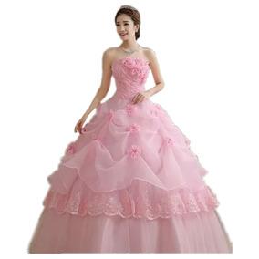 38e7aa1f0 Vestido Xv Color Rojo - Ropa, Bolsas y Calzado Rosa en Mercado Libre ...