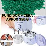Calentador Fundidor De Cera + Cera Cio Profesional Wax Depil