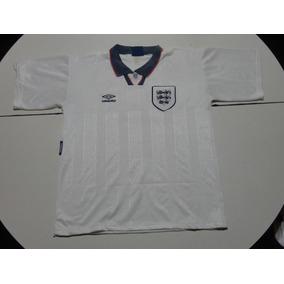 Camiseta De Inglaterra Marca Umbro Blanca 1994, Talle L