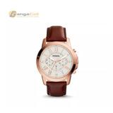 Reloj Fossil Original Fs4991 De Cuero De 44mm Con Cronometro