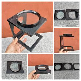 Lupa Dobrável Apoio Mesa Aumento 10x Vidro Óptico Grande 8c8355c144
