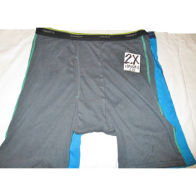 Calzones Boxers Gris Y Azul Talla 2x Hanes