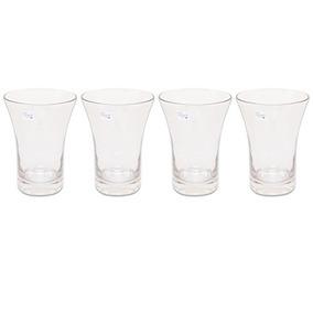 Martha Debayle Home Tu15440g Vasos Hb, Color Gris, 4 Pieza