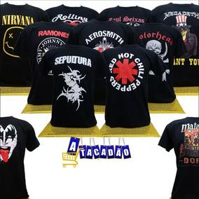 900e284891 Kit 20 Camisetas Banda De Rock Atacado Revenda Adulto