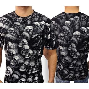 Camiseta Caveira Morte Skull Consulado Do Rock Camisa Moto