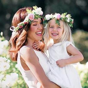 Coronas Primera Comunión Mama Hija Bautizo Paje Novia Flores