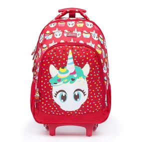 5239d3b49 Mochila Spector Carrinho Rodinha Infantil Escolar Vermelha