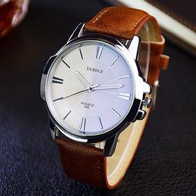 2018 Relógio De Pulso Masculino Yazole De Quartzo Luxo