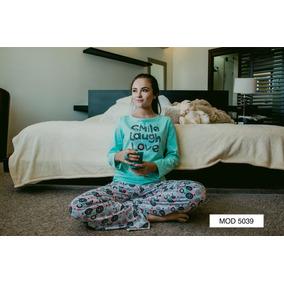 Pijama Dama Juvenil Algodón Love Ruedas Manga Larga Pantalon
