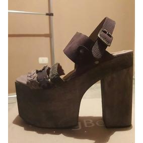 Zapatos Sandalias De Plataformas Nuevas Nº 38 De Cuero