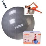 Bola Suíça Bomba Pilates 85cm Liveup Antiestouro Yoga 300 Kg