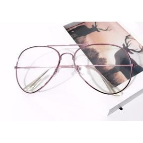 Óculos Armação Estilo Retrô Vintage Lentes Incolor Sem Grau d79b922a4f