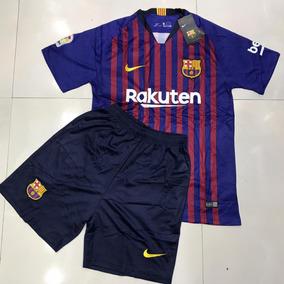 Novo Ckit Camisa + Short Barcelona 18 19 - Preço Especial! 8404e2dafbb96