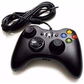 Controle Xbox 360 E Pc Com Fio 2 Metros