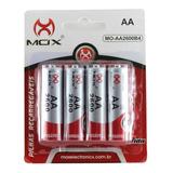 Pilha Recarregável Aa C/4 Mox 2600 Mah Original Lacrado E Nf