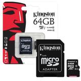 Memoria Micro Sd Kingston Technology Sdcs/64gb, 64 Gb, Negro