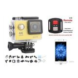Cámara Estilo Go Pro 4k Con Control + Accesorios - Sport Cam