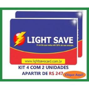 Economizador De Energia Light Save Card Kit 4 Com 2 Unid