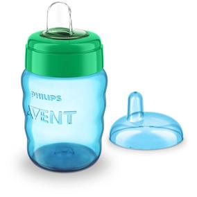Copo Philips Avent Easy Sip Bico Silicone 260ml Verde E Azul
