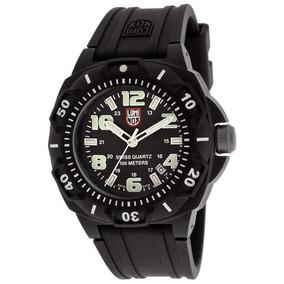 Relógio Luminox Sentry Carbon 0201.sl Preto E Branco