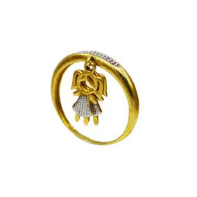 Anel Com Pingente Duas Meninas Ouro 18k - Anéis com o melhor preço ... 47c1232760