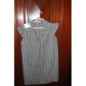 = Roupa Lote 564 Mulher Camisa Listrada G Babado 95cm
