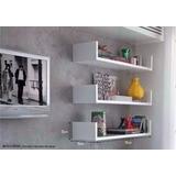 Desconto 3 Prateleiras U 70x15x Branco Nicho Livros 70153u