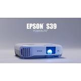 Proyector Epson S39 3300 Lumens Incluye Pantalla De 80 Pulga