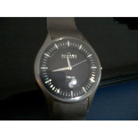 Relógio Skagen 809xltbn Titanium Blue Dial De Luxo - Relógios De ... 29afacde80