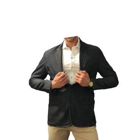 Blazer Saco Para Hombre De Mezclilla Obscura Peaceful