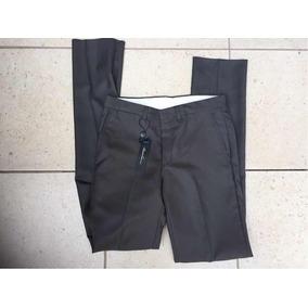 Pantalón Slim Fit Formal Gris Oscuro 28x32 Marca