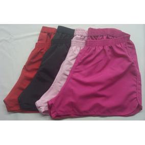 Kit Com 2 Shorts Tactel Feminina Plus Size Tamanhos Maiores