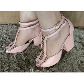 857d437d40 Sandalia Gladiadora Baixa - Sapatos para Feminino Rosa no Mercado ...